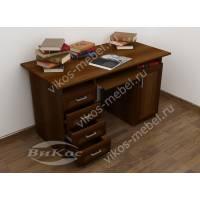 стол компьютерный с ящиками для мелочей цвета яблоня