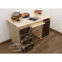 прямой стол компьютерный с ящиками для мелочей