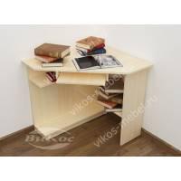 малогабаритный стол для компьютера цвета молочный беленый дуб