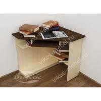 угловой стол для компьютера цвета беленый дуб - венге