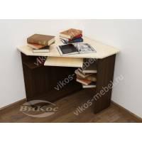 угловой стол для компьютера цвета венге - молочный дуб