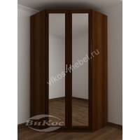 узкий шкаф угловой с распашными дверями