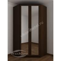 шкаф угловой с зеркальной дверью цвета венге