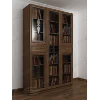 книжный шкаф со стеклянными дверцами с ящиками для мелочей с витражом