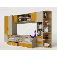 детская стенка с кроватью желтого цвета