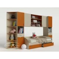 стенка для ребенка для девочки оранжевого цвета