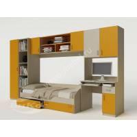стенка для ребенка с кроватью желтого цвета