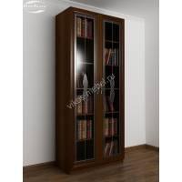 витражный книжный шкаф цвета яблоня