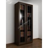 2-створчатый книжный шкаф цвета венге