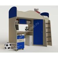 мальчуковая кровать чердак для ребенка синего цвета