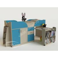 малогабаритная детская кровать чердак со шкафом