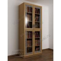 2-дверный шкаф для книг цвета бук