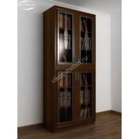 шкаф для книг c витражным стеклом цвета яблоня