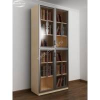 2-дверный шкаф для книг цвета беленый дуб - венге