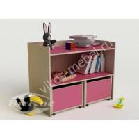 детская тумба для девочки розового цвета