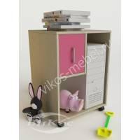 тумба для игрушек для девочки розового цвета