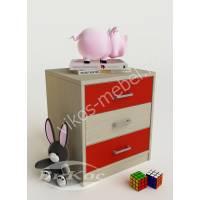тумба для игрушек с тремя выдвижными ящиками для девочки