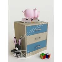 тумба для игрушек с тремя выдвижными ящиками для мальчика