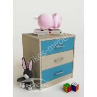 тумба для игрушек без колес с тремя выдвижными ящиками