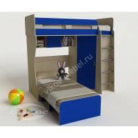 детская двухъярусная кровать для парня синего цвета