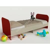 кровать для ребенка от 5 лет красного цвета