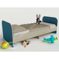 мальчуковая кровать для ребенка цвета мармара голубой