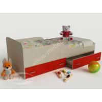 детская кровать для девочки красного цвета