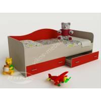 кровать в детскую с ящиками для мелочей для девочки
