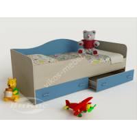 кровать в детскую с ящиками для мелочей для парня