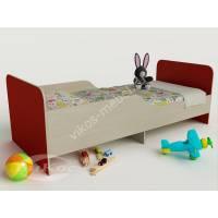 девчачая кровать для ребенка красного цвета