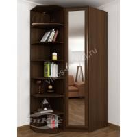 угловой шкаф с зеркальной дверью в спальню