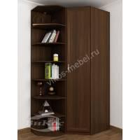 узкий угловой шкаф в спальню