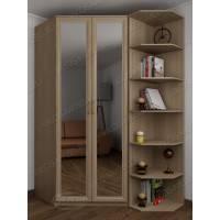 узкий шкаф угловой с зеркалом