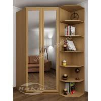 2-створчатый шкаф угловой с зеркалом