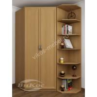 2-створчатый шкаф угловой для спальни