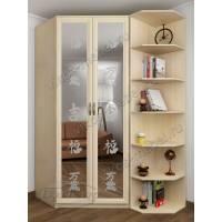 2-створчатый шкаф угловой с пескоструйным зеркалом