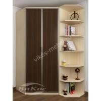 шкаф угловой для спальни цвета беленый дуб - венге