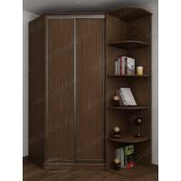 2-дверный угловой шкаф цвета шимо темный