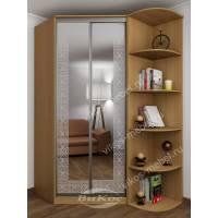 угловой шкаф для одежды с зеркалом