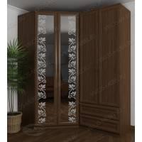 шкаф угловой для спальни цвета шимо темный