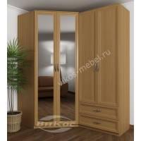 модульный шкаф угловой с зеркальной дверью