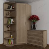 узкий шкаф угловой цвета шимо светлый