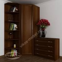 узкий шкаф угловой цвета яблоня