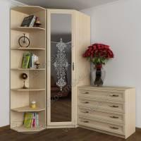 шкаф угловой с распашными дверями с пескоструем