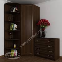 платяной шкаф угловой с распашными дверями