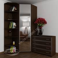 узкий шкаф угловой цвета венге