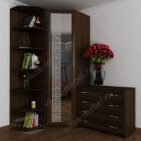 шкаф угловой с пескоструем цвета венге