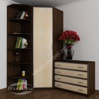 платяной шкаф угловой цвета венге - молочный дуб