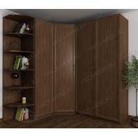 шкаф угловой шириной 160-180 см цвета шимо темный