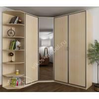 платяной шкаф угловой с зеркальной дверью